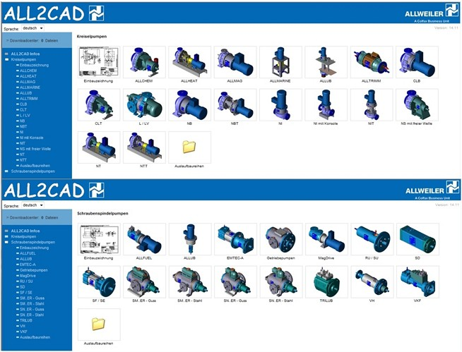 The fast way to real CAD filesALLWEILER - Pumps, Solutions